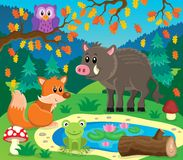 Forest animals topic image 2 Stock Photography