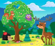Forest animals topic image 4. Eps10 vector illustration Royalty Free Stock Image