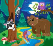Forest animals topic image 6 Stock Images