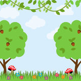 Forest Animals Vector Background illustration de vecteur