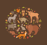 Forest animals Stock Images