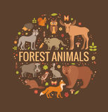 Forest animals Royalty Free Stock Photography