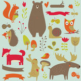 Forest animals Royalty Free Stock Photos