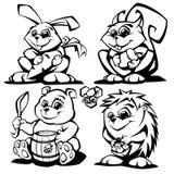 Forest Animals Vetora Illustration Imagens de Stock Royalty Free