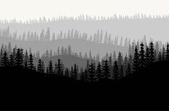 forest background vector stock illustration