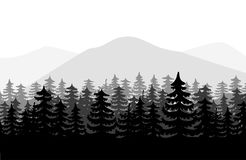forest background vector royalty free illustration