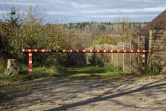 Forest and barrier stock photo