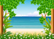 Forest and beach background Royalty Free Stock Photo