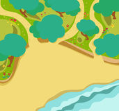 Forest and beach map style Royalty Free Stock Photos