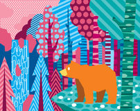 Forest bear Stock Images