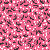 Forest berry nature pattern Royalty Free Stock Images