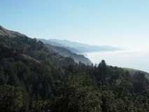 Big Sur coastline on Pacific Ocean Stock Photography