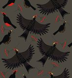 Forest bird flock