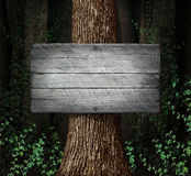Forest Blank Sign Royalty Free Stock Photos