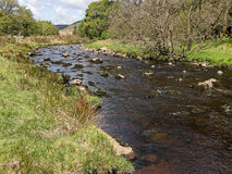 Forest of Bowland in Lancashire, England. The river Hodder near Dunsop Bridge in the Forest of Bowland, a designated Area of Outstanding Natural Beauty stock photo