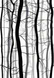 Forest Branches seamless pattern. Monochrome spring, winter bare trees vector illustration. Forest Branches seamless pattern. Monochrome , winter bare trees stock illustration