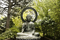 A Forest Buddha Statue. An Asian Forest Buddha Statue royalty free stock photo