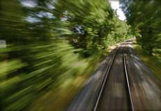 Forest Bullet Train Royalty Free Stock Photography