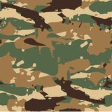 Forest Camouflage Pattern Background militaire sans couture classique illustration de vecteur