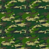 Forest Camouflage Pattern Background militar inconsútil clásico Imagen de archivo libre de regalías