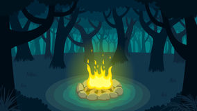 Forest Campfire stock footage