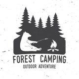 Forest Camping extremt affärsföretag också vektor för coreldrawillustration royaltyfri illustrationer