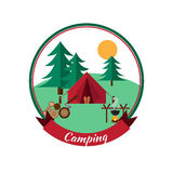 Forest camping and hiking Royalty Free Stock Photos