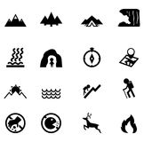 Forest camping icon Royalty Free Stock Photography