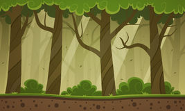Forest Cartoon Background Stock Photo