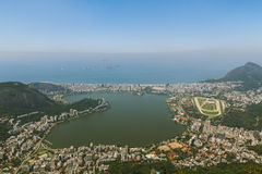 Forest and city view over Rio Royalty Free Stock Photography