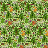 Forest color seamless pattern Stock Photography