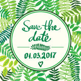 Forest colorful leafs text template save the date light Royalty Free Stock Photography