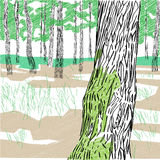Forest composition Royalty Free Stock Photos