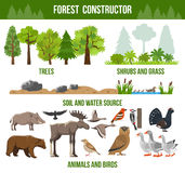 Forest Constructor Poster Royalty Free Stock Image
