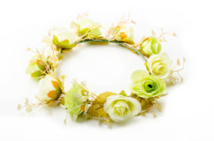 Forest coronal or colorful fake flower crown. Royalty Free Stock Image