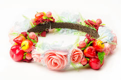 Forest coronal or colorful fake flower crown. Royalty Free Stock Photography