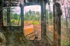 Forest cover destruction deforestation. Royalty Free Stock Images
