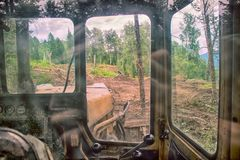 Forest cover destruction deforestation. Royalty Free Stock Photography