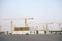 Forest of cranes Stock Photography