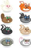 Forest Creatures. Illustration icons of creatures found in the forest Royalty Free Stock Photo