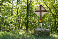 Forest crucifix Royalty Free Stock Photo