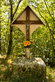 Forest crucifix Royalty Free Stock Photography