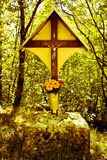 Forest crucifix Stock Image