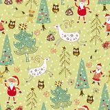 Forest and deer. seamless pattern Royalty Free Stock Image