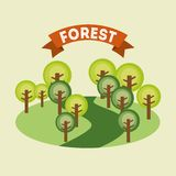 Forest design Stock Photography