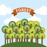 Forest design Royalty Free Stock Photo