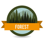 Forest design, vector illustration. Royalty Free Stock Images