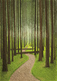 Forest Drawing Imagem de Stock Royalty Free