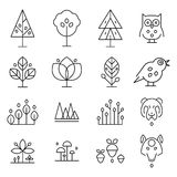 Forest Drawing Collection abstrait Photo stock