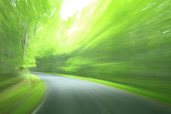 Forest drive. Speed and power Stock Photo
